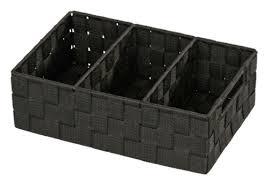 wenko organizer adria schwarz mit griff körbchen badezimmer