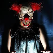 Funny Halloween Half Masks by Amazon Com Hyaline U0026dora Halloween Latex Clown Mask With Hair For