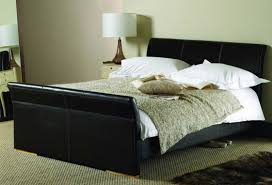 Black Leather Headboard Queen by Queen Size Bed Frame And Headboard Set Designs Also King With