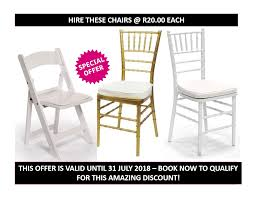 100 Folding Chair Hire Grand Style Hiring DECOR AND FURNITURE HIRING CAPE TOWN