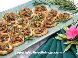 dining canapes recipes crostini appetizers canapes gourmet appetizer finedinings com