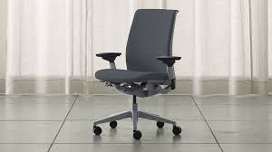 Aluminum Directors Chair With Swivel Desk by Home Office Chairs Crate And Barrel