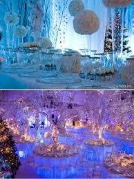 Winter Wonderland Wedding Reception Set Up