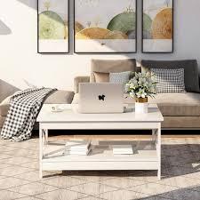 100 60 47cm wohnzimmer modern x design couchtisch holz beistelltisch mit lagerregal für groß oder klein wohnzimmer apartments oder