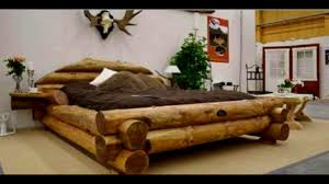 40 WOOD Bed Hand made Ideas 2017 Unique Bed frame Log design