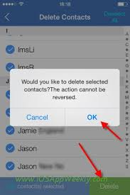 How to delete multiple or all contacts from iPhone