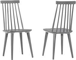 duhome 2er set esszimmerstuhl aus holz grau lackiert küchenstuhl rückenlehne geschwungen retro design modell clovis farbe grau material holz