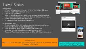 fice365  Video portal latest status at MSIgnite…