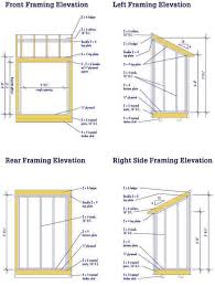 8x10 Shed Plans Materials List by Lean To Shed Plans U2013 Free Diy Blueprints For A Lean To Shed