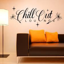 wandtattoo chill out loungemit pusteblume löwenzahn flug