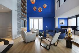 blue and white wall paint color combination for modern