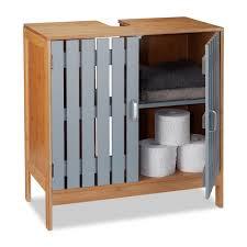 waschbeckenunterschrank bambus badschrank badezimmerschrank