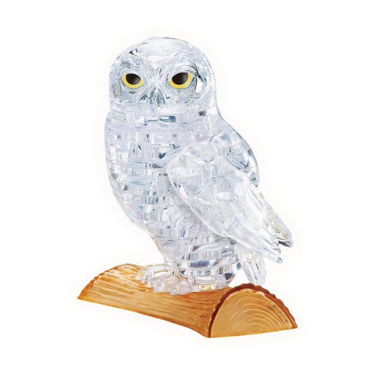 Bepuzzled 3D Crystal Puzzle - White Owl