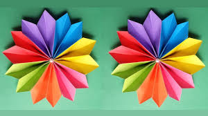 How To Make A Beautiful Flower With Colour Paper