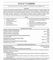 7035 Biotechnology Resume Examples