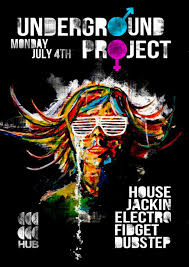 Underground Project Music Event Flyer Poster On Behance