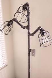Industrial Floor Lamp Steampunk Black Pipe By HanorManor