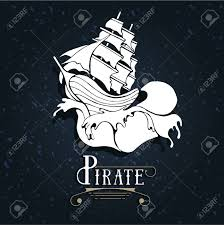 100 Design A Pirate Ship Silhouette Of A Pirate Ship With Waves