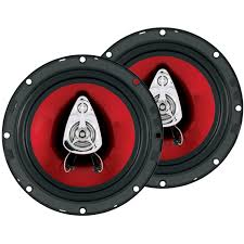 100 Truck Stereo Systems Boss 65 Inch 300 Watt 3Way Car Coaxial Audio Red Speakers