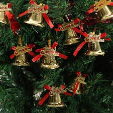 Xmas Tree Watering Devices by 9pcs Christmas Xmas Tree Bowknot Bells Hanging Pendant Party