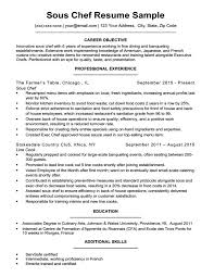 Sous Chef Resume Download Sample