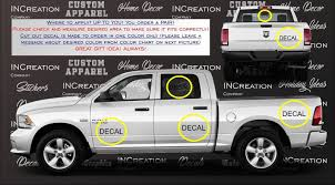 100 Custom Stickers For Trucks Truck Car Vinyl Decal Racing Sticker Dodge And 50 Similar Items