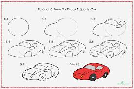 How To Draw A Sports Car With