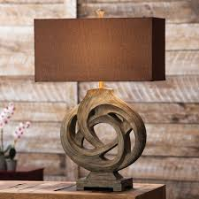 Rustic Lamps Cabin Lighting Black Forest DACcor 15 Inch Southwest Style Table Lamp