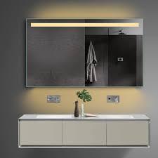 led bad badezimmer spiegel in warm kaltweiß mit steckdose tsl12070