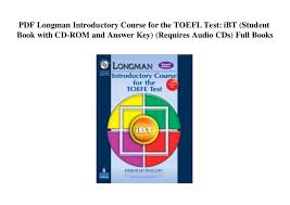 PDF Longman Introductory Course For The TOEFL Test IBT Student Book With CD