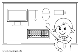 Computer Parts Coloring Pages