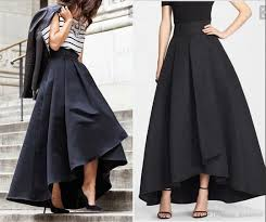 2017 2016 cheap high low satin skirts ruched women formal party