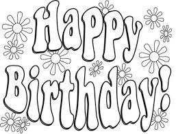 Birthday Coloring Pages Colouring Page Printable