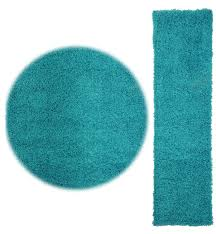 Extra Large Bath Rugs Uk by Novo Shaggy Rugs Hall Runners And Round Rugs Turquoise Blue