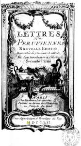 Lettres Dune Peruvienne Title Page
