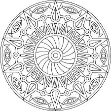 Free Printable Mandala Coloring Pages Vintage