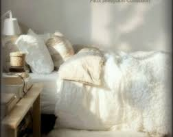 Luxurious Faux Fur Bed Spread forter Throw Blanket or