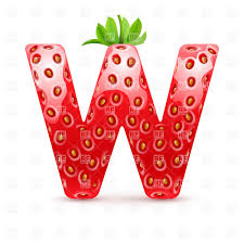 Strawberry Style Font Letter W Vector Image Of Signs Symbols Maps