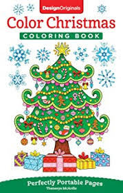Color Christmas Coloring Book Perfectly Portable Pages On The Go