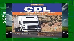 Best Ebook Cdl: Commercial Driver S License Test (Barron S Cdl Truck ...