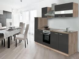 respekta küchenzeile b 240 cm mit elektrogeräten eiche