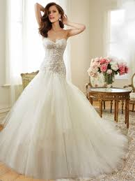 tulle a line wedding dress with corset back