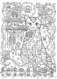 Cat Cats Kitty Kitties Kitten Kittens Feline Gatos Katze Chat Gatto Kocka Druku Gato Adult Colouring PagesColoring BooksCat