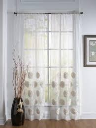 Dkny Mosaic Curtain Panels by Dkny Halo Rod Pocket Sheer Window Curtain Panel In White