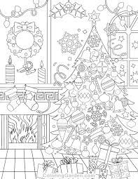 Free Printable Christmas Adult Coloring Page Download It In PDF Format At