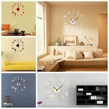 Mini Modern DIY Wall Clock 3D Sticker Quartz Needle Horloge