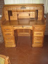Ethan Allen Dark Pine Roll Top Desk by Antique Quarter Sawn Golden Oak Roll Top Desk 1890 1910 Victorian