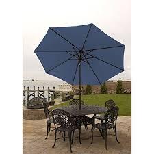 umbrella for table 9 ft with aluminum frame crank tilt for