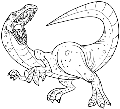 Coloring Pages Dinosaurs Dinosaur Tryonshorts Picture Page To Print Animal Free