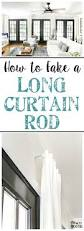 Curtain Rod Extender Bed Bath And Beyond by How To Fake A Long Curtain Rod Long Curtain Rods Long Curtains